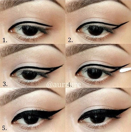 Simple-Eye-liner-Tutorials-2014-For-Beginners-Learners-4