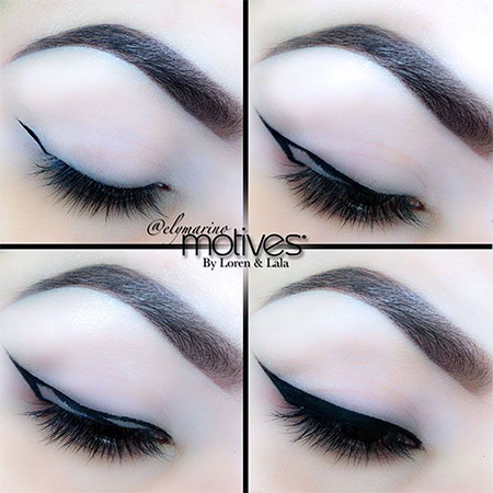 Simple-Eye-liner-Tutorials-2014-For-Beginners-Learners-5