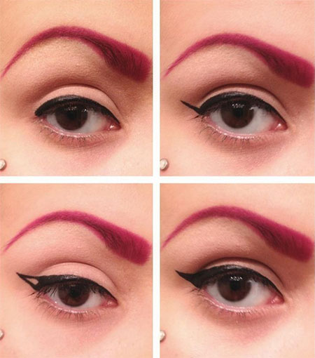 Simple-Eye-liner-Tutorials-2014-For-Beginners-Learners-6