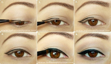 Simple-Eye-liner-Tutorials-2014-For-Beginners-Learners-7