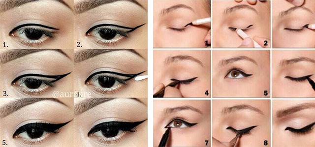 Simple-Eye-liner-Tutorials-2014-For-Beginners-Learners