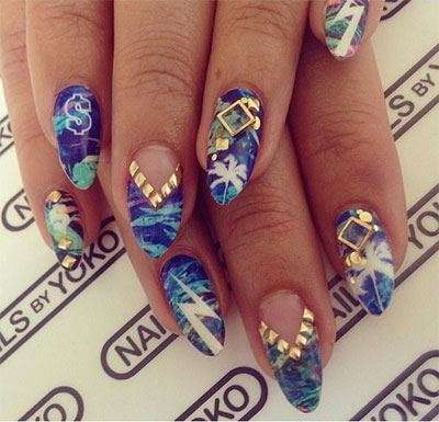 15 pretty cool summer nail art designs ideas trends 15 pretty cool summer nail art designs ideas prinsesfo Choice Image