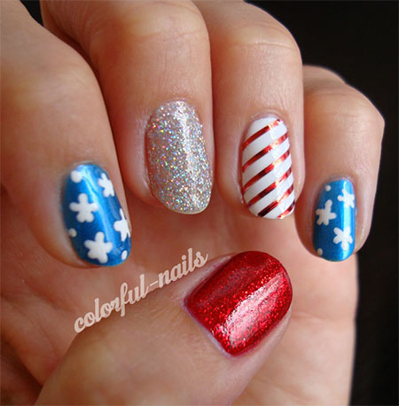 10-American-Flag-Nail-Art-Designs-Ideas-Trends- - 10 + American Flag Nail Art Designs, Ideas & Trends 2014 Fourth Of