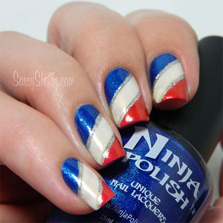 10 American Flag Nail Art Designs Ideas Trends 2014 Fourth Of