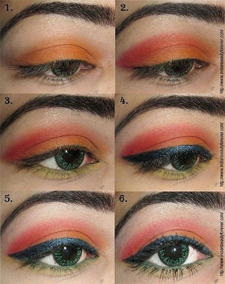 12-Simple-Summer-Eye-Make-Up-Tutorials-2014-For-Beginners-Learners-11