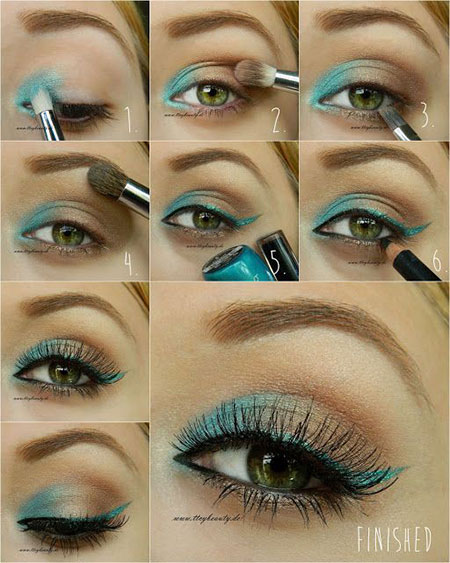 12-Simple-Summer-Eye-Make-Up-Tutorials-2014-For-Beginners-Learners-12