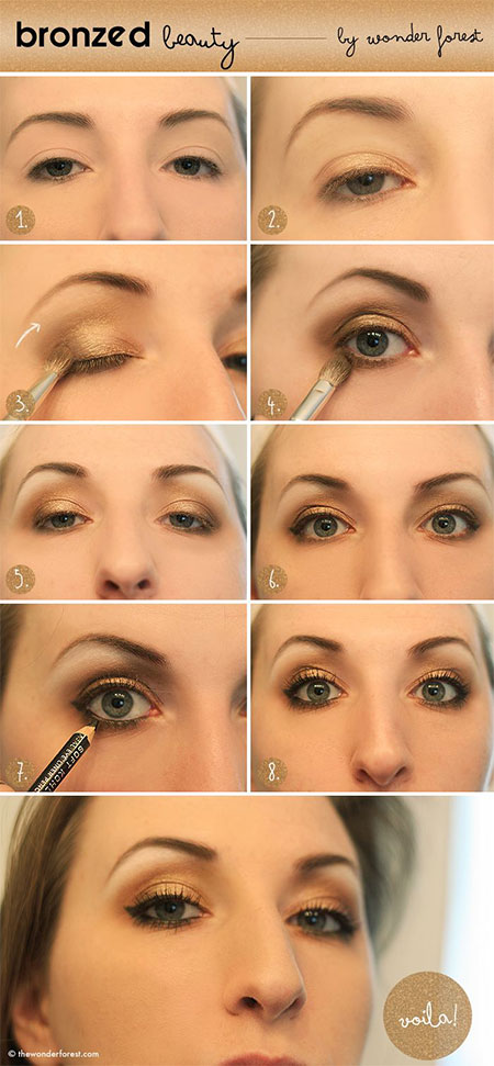 12-Simple-Summer-Eye-Make-Up-Tutorials-2014-For-Beginners-Learners-7