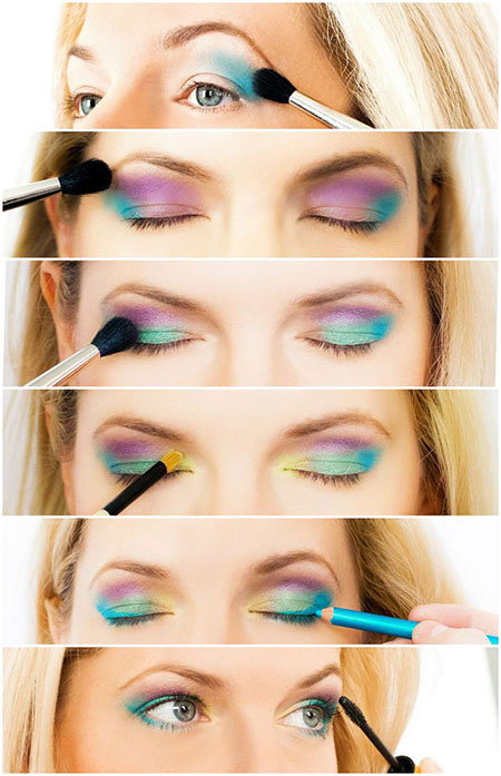 12-Simple-Summer-Eye-Make-Up-Tutorials-2014-For-Beginners-Learners-9
