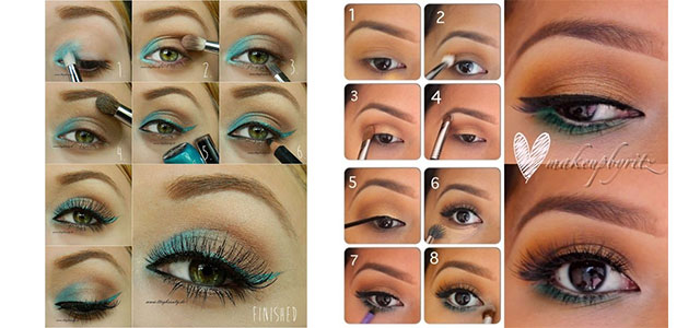 12-Simple-Summer-Eye-Make-Up-Tutorials-2014-For-Beginners-Learners