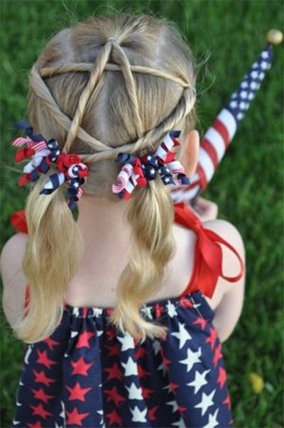 15-4th-Of-July-Hairstyles-For-Littlegirls-Teens- - 15 + 4th Of July Hairstyles For Littlegirls & Teens 2014 Fourth