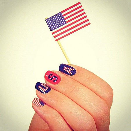 15 Easy 4th Of July Nail Art Designs Ideas Trends 2014 Fourth