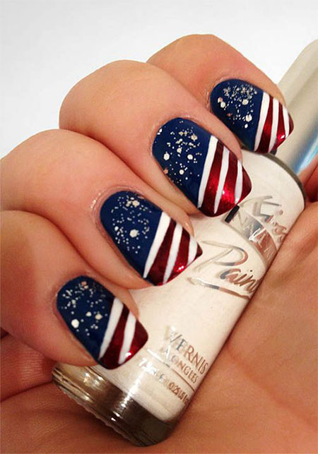 30 Fourth Of July Nail Art Designs, Ideas, Trends