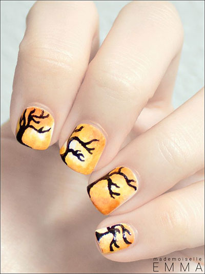25-Easy-Fall-Nail-Art-Designs-Ideas-Trends-Stickers-2014-Fall-Nails-10
