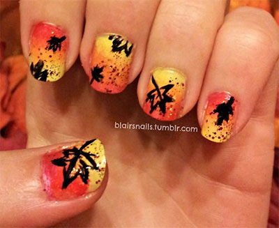 25-Easy-Fall-Nail-Art-Designs-Ideas-Trends-Stickers-2014-Fall-Nails-19