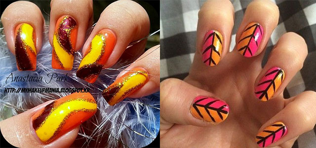 easy fall nail art hola klonec co