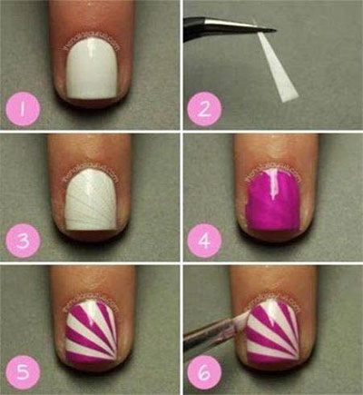 25-Very-Easy-Simple-Step-By-Step-Nail-Art-Tutorials-For-Beginners-Learners-2014-10