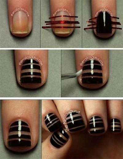 25-Very-Easy-Simple-Step-By-Step-Nail-Art-Tutorials-For-Beginners-Learners-2014-12