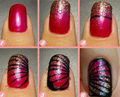 Butterfly Nails Tutorial 25 Very Easy Simple Step By Nail