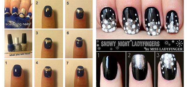 25 Very Easy Simple Step By Step Nail Art Tutorials For Beginners