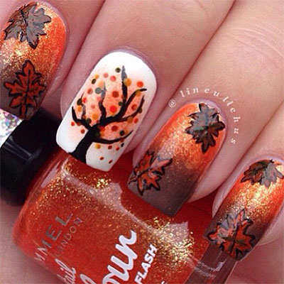 30-Autumn-Tree-Leaf-Nail-Art-Designs-Ideas-Trends-Stickers-2014-Fall-Nails-10