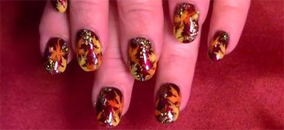 30-Autumn-Tree-Leaf-Nail-Art-Designs-Ideas-Trends-Stickers-2014-Fall-Nails-2