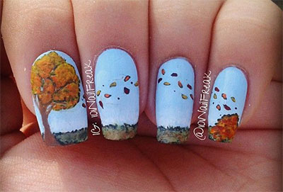 30-Autumn-Tree-Leaf-Nail-Art-Designs-Ideas-Trends-Stickers-2014-Fall-Nails-27
