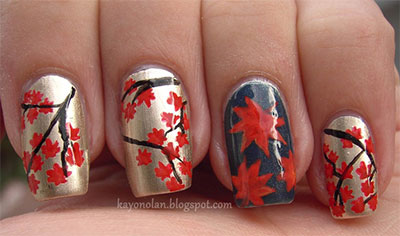 30 autumn tree leaf nail art designs ideas trends stickers 30 autumn tree leaf nail art designs ideas prinsesfo Image collections