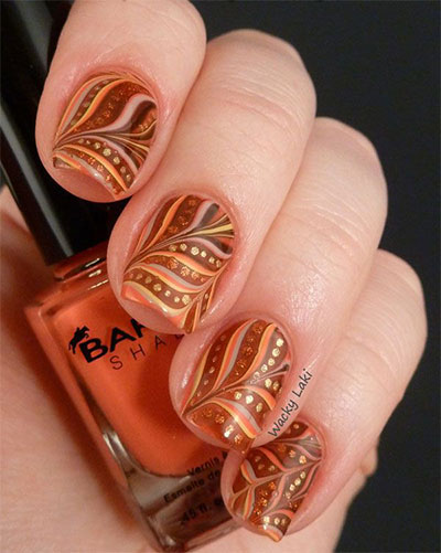 30 autumn tree leaf nail art designs ideas trends stickers