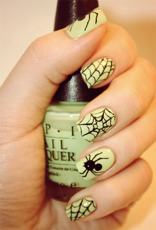 10-Scary-Halloween-Spider-Web-Nail-Art-Designs-Ideas-Stickers-2014-9