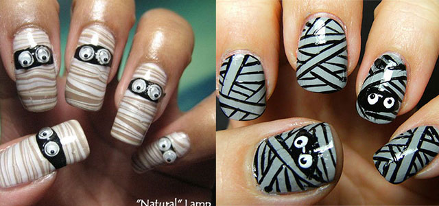 12-Scary-Halloween-Mummy-Nail-Art-Designs-Ideas-Trends-Stickers-2014