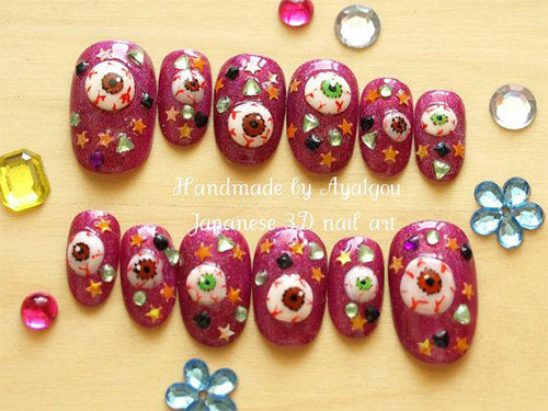 15-Amazing-Yet-Scary-3D-Halloween-Nail Art-Designs-Ideas-Trends-Stickers-2014-14