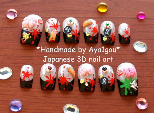 15-Amazing-Yet-Scary-3D-Halloween-Nail Art-Designs-Ideas-Trends-Stickers-2014-15