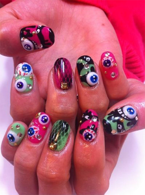 15-Amazing-Yet-Scary-3D-Halloween-Nail Art-Designs-Ideas-Trends-Stickers-2014-2