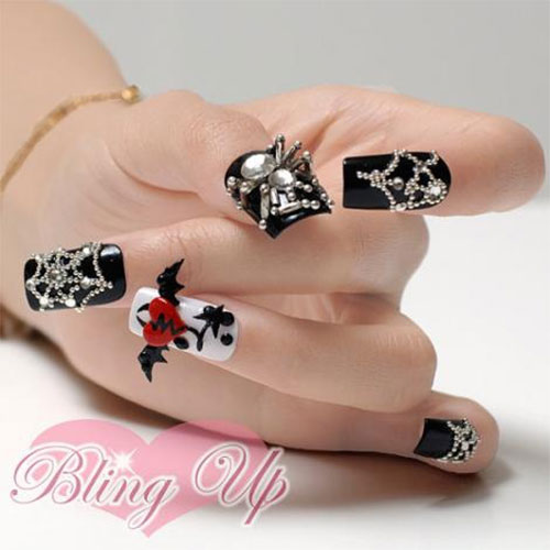 15-Amazing-Yet-Scary-3D-Halloween-Nail Art-Designs-Ideas-Trends-Stickers-2014-4