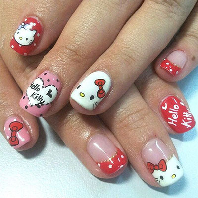 20-Easy-Hello-Kitty-Nail-Art-Designs-Ideas-Stickers-2014-1