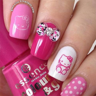 20-Easy-Hello-Kitty-Nail-Art-Designs-Ideas-Stickers-2014-11