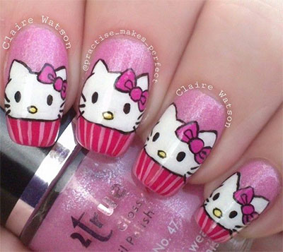 20-Easy-Hello-Kitty-Nail-Art-Designs-Ideas-Stickers-2014-15