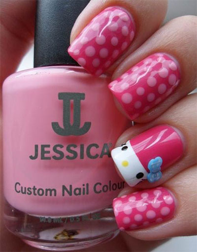 20-Easy-Hello-Kitty-Nail-Art-Designs-Ideas-Stickers-2014-17