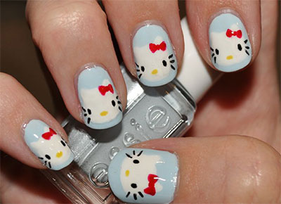 20-Easy-Hello-Kitty-Nail-Art-Designs-Ideas-Stickers-2014-21