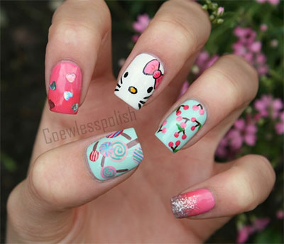 20-Easy-Hello-Kitty-Nail-Art-Designs-Ideas-Stickers-2014-3