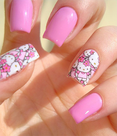 20-Easy-Hello-Kitty-Nail-Art-Designs-Ideas-Stickers-2014-4