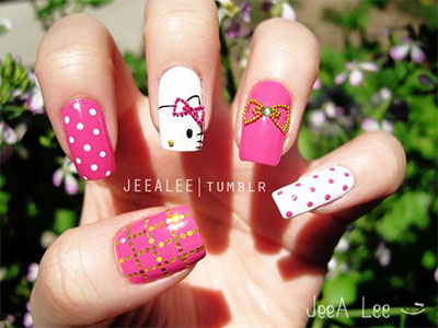 20-Easy-Hello-Kitty-Nail-Art-Designs-Ideas-Stickers-2014-5