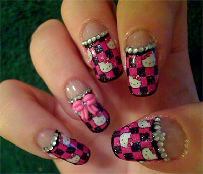 20-Easy-Hello-Kitty-Nail-Art-Designs-Ideas-Stickers-2014-7