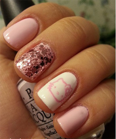 20-Easy-Hello-Kitty-Nail-Art-Designs-Ideas-Stickers-2014-8