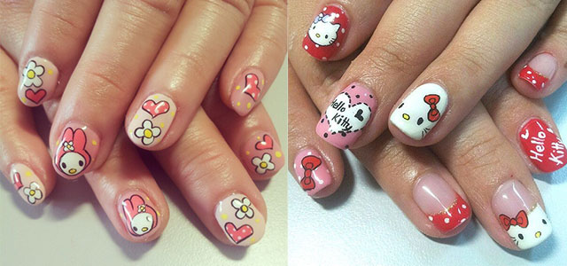 20 Easy Hello Kitty Nail Art Designs Ideas Stickers 2014 Girlshue