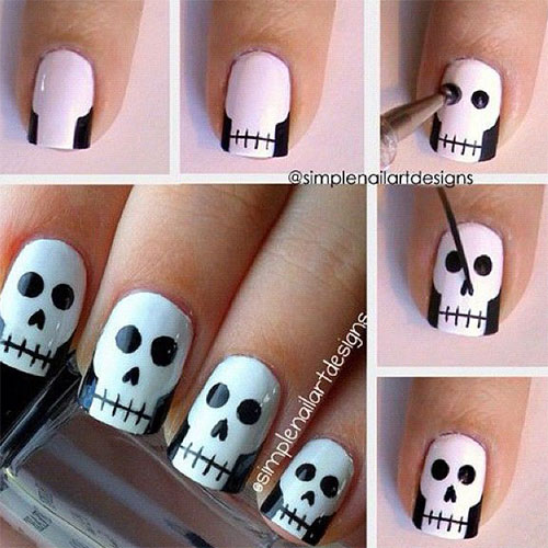 20 easy step by step scary halloween nail art tutorials for 20 easy step by step scary halloween nail prinsesfo Choice Image