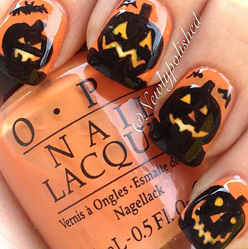 20-Inspiring-Scary-Halloween-Pumpkin-Nail-Art-Designs-Ideas-Stickers-2014-1