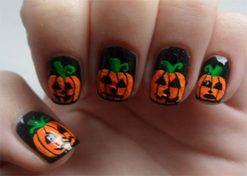 20-Inspiring-Scary-Halloween-Pumpkin-Nail-Art-Designs-Ideas-Stickers-2014-14