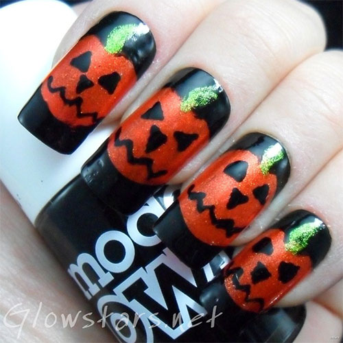 20-Inspiring-Scary-Halloween-Pumpkin-Nail-Art-Designs-Ideas-Stickers-2014-2