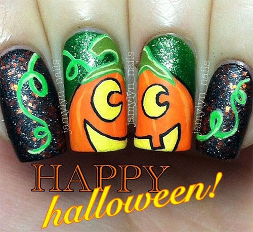 20-Inspiring-Scary-Halloween-Pumpkin-Nail-Art-Designs-Ideas-Stickers-2014-20